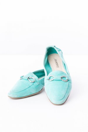 Moccasins turquoise suede