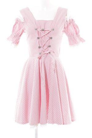 Oscartrachten Dirndl rosa-weiß Karomuster Metallelemente