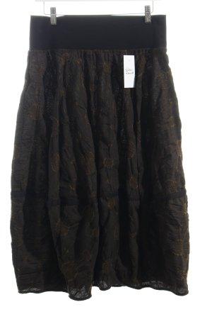Oska Faltenrock schwarz-hellbraun extravaganter Stil