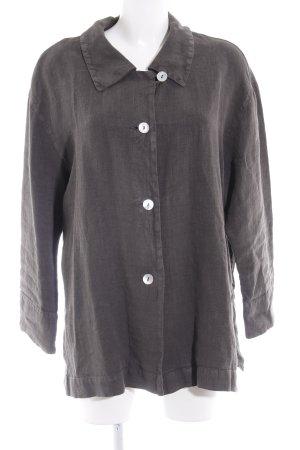 Oska Blusa de lino gris oscuro look casual