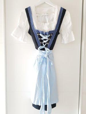 OSKAR Dirndl, schwarz/blau/hellblau, Gr.34, Baumwolle
