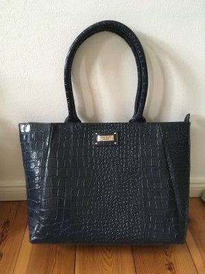 Osprey London Graeme Ellisdon Tasche Handtasche Leder Business blau dunkelblau