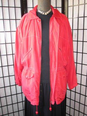 Hochwertige knallrote Jacke aus REINER SEIDE *Federleicht*