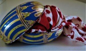 Neckerchief red-natural white silk