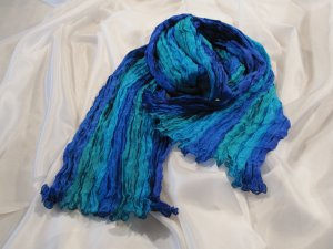 Sciarpa di seta multicolore