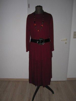 *OSTERSALE* Toller Zweiteiler Gefütterter  Maxirock u. Langarm Shirt  60% Viskose Gr. 48-50   dunkelrot/schwarzmeliert