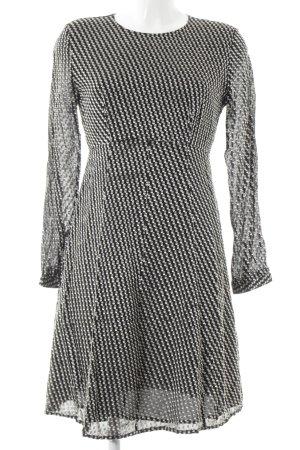 & other stories A-Linien Kleid schwarz-weiß Punktemuster Casual-Look