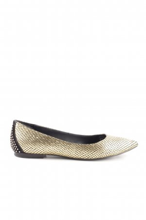 & other stories Ballerinas with Toecap gold-colored-black animal pattern elegant
