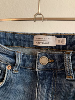 & other stories Jeans taille haute multicolore coton