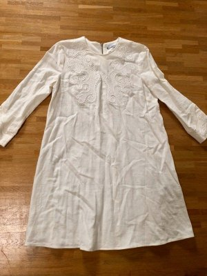 & other Stories Blogger Leinen Sommer Stickerei Kleid Hippie XS 32 34