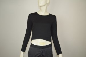 &other stories Bluse cropped asymmetrisch schwarz Gr.36 TOP Viskose
