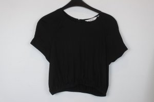 & Other Stories Bluse Gr. 36 schwarz kurz cropped (18/6/422)