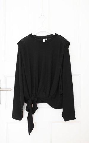& Other Stories Bluse Top Shirt schwarz Ballonärmel Gr. 36 Baumwolle