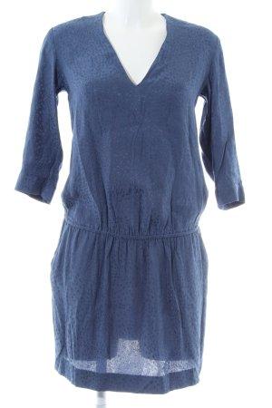 & other stories Blusenkleid blau Allover-Druck Casual-Look