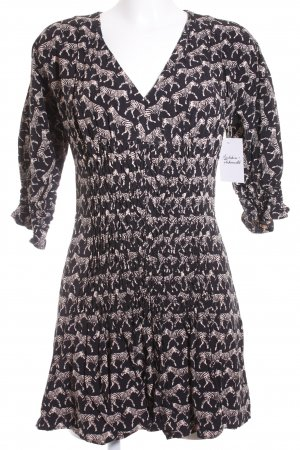 & other stories Blusenkleid schwarz-beige Animalmuster