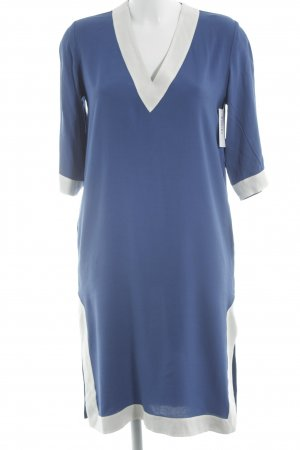 & other stories Vestido camisero blanco-azul look casual
