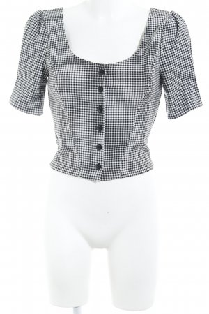 & other stories Bolero black-white check pattern casual look