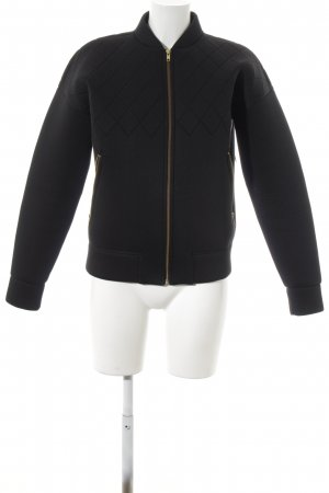& other stories Bomberjacke schwarz-goldfarben Street-Fashion-Look