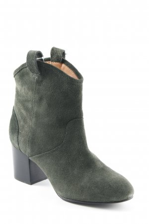 & other stories Stivaletto verde scuro-nero stile casual