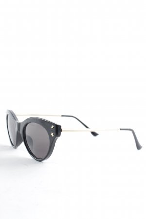 & other stories Butterfly Brille schwarz-goldfarben Casual-Look