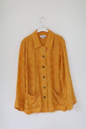 & Other Stories Capsule Collection Pyjama Bluse Senf Gelb Vintage 70s Look Gr. 38