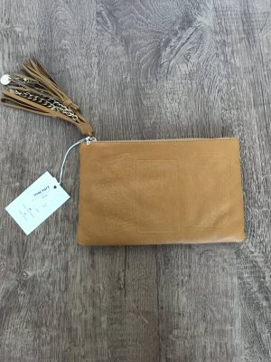 & Other Stories Clutch Camel Orange Leder NEU