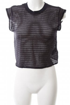 & other stories Cropped Top schwarz Streifenmuster Casual-Look