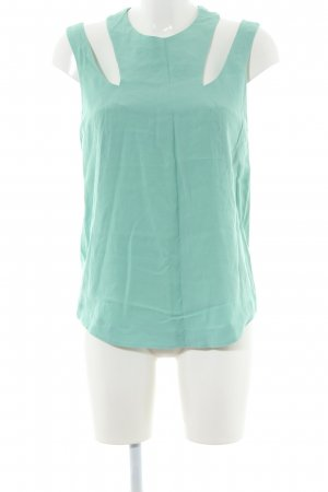 & other stories Cut Out Top turquoise casual look