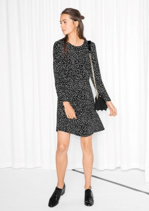 & other stories dots mini dress 100% Viskose Kleid Clean Chic minimalism Blogger 38