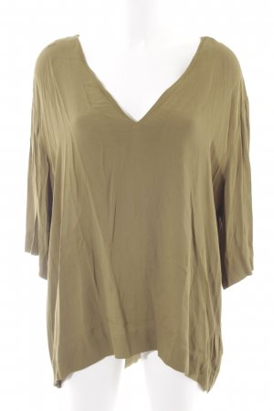 & other stories Blusa brillante verde oliva look efecto mojado