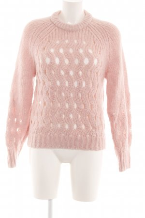 & other stories Grobstrickpullover nude Zopfmuster Casual-Look