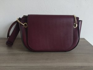 Other Stories Handtasche Saddle BagLeder weinrot oxblood
