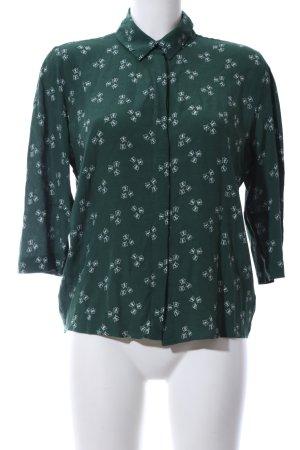 & other stories Shirt Blouse khaki-white allover print elegant