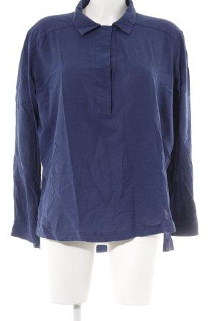 & other stories Hemd-Bluse dunkelblau schlichter Stil