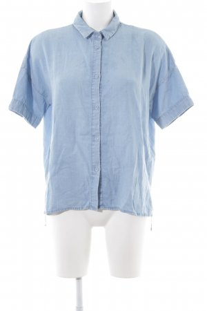 & other stories Hemd-Bluse hellblau Jeans-Optik