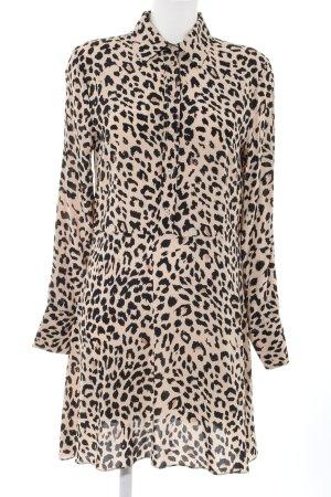 & other stories Abito blusa camicia color carne-nero Stampa leopardata