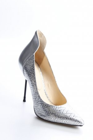 & other stories High Heels silberfarben Webmuster extravaganter Stil