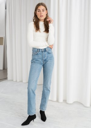 & other stories Hoge taille jeans veelkleurig casual uitstraling