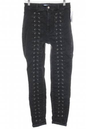 & other stories High Waist Jeans schwarz Punk-Look