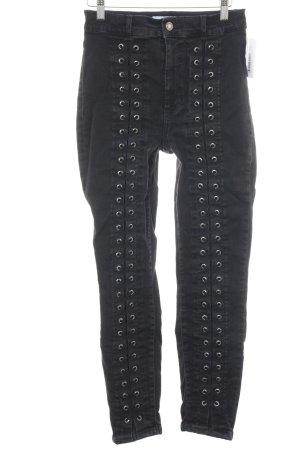 & other stories Hoge taille jeans zwart punk stijl