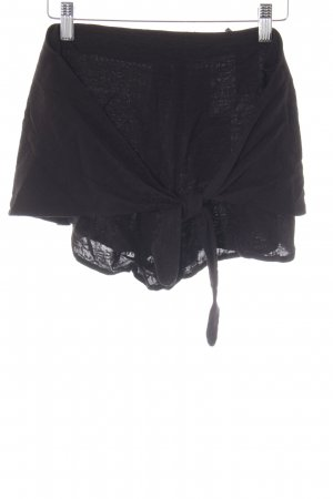 & other stories High-Waist-Shorts schwarz florales Muster Beach-Look