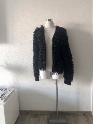 & other stories Fake Fur Jacket black-silver-colored