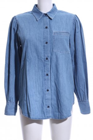 & other stories Denim Blouse pale blue jeans look