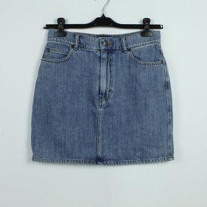 & other stories Jupe en jeans bleu azur coton