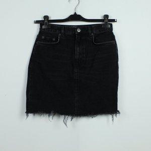 & other stories Jupe en jeans noir coton