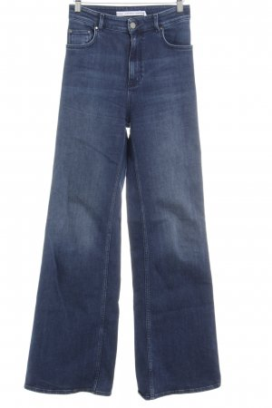 & other stories Denim Flares steel blue-silver-colored jeans look