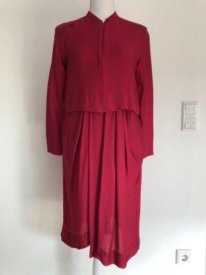 & Other Stories Kleid Bluse mehrlagig gerafft pink magenta