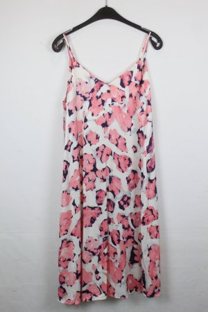 & Other Stories Kleid Gr. 38 Trägerkleid oversized rosa creme florales Muster NEU mit Etikett (18/2/593)
