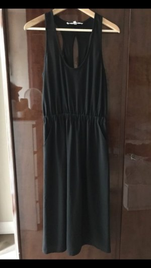 & other stories Vestido cut out negro