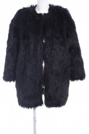 & other stories Fake Fur Coat dark blue-black classic style